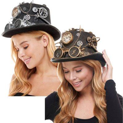 Deluxe Trimmed Felt Steam punk hats