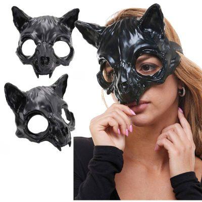 Black Plastic Vampire Bat Mask